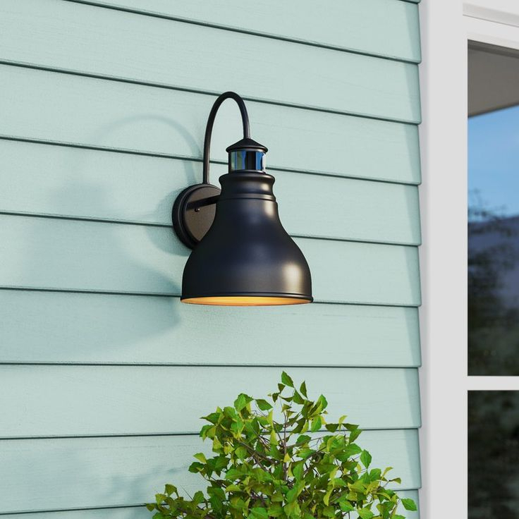 Trendy Lavardin Oil Burnished Bronze 1 – Bulb Outdoor Barn Light In Ranbir Oil Burnished Bronze Outdoor Wall Lanterns With Dusk To Dawn (View 15 of 20)