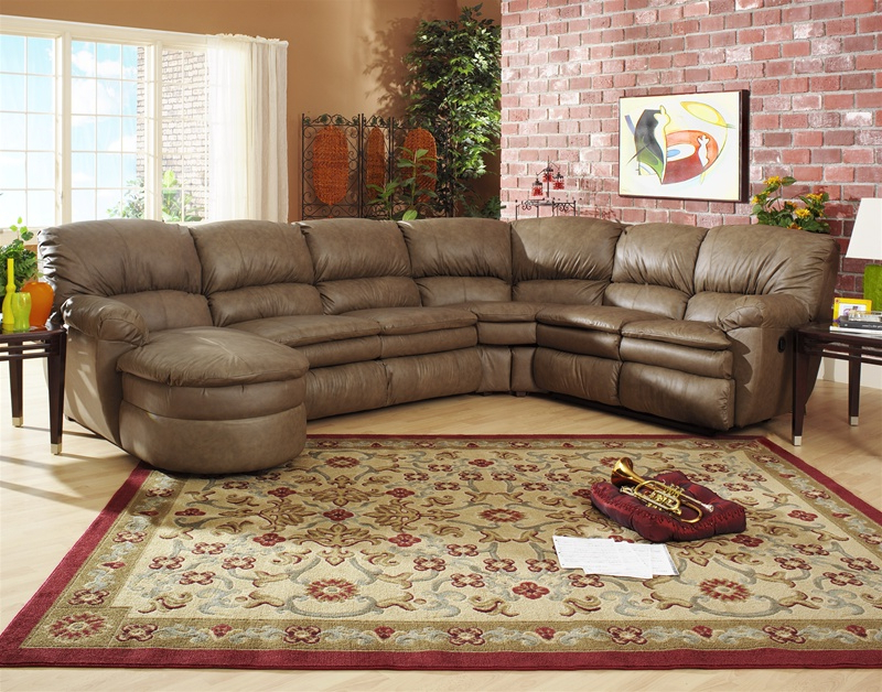 Trendy Manhattan 3 Piece Chaise Sectional In Smoke Color Leather With Regard To 3pc Miles Leather Sectional Sofas With Chaise (View 14 of 20)