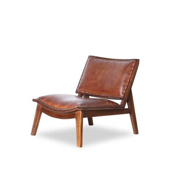 Trendy Mid Century Modern Debra Cognac Tan Leather Arm Chair Intended For Florence Mid Century Modern Right Sectional Sofas Cognac Tan (View 18 of 20)