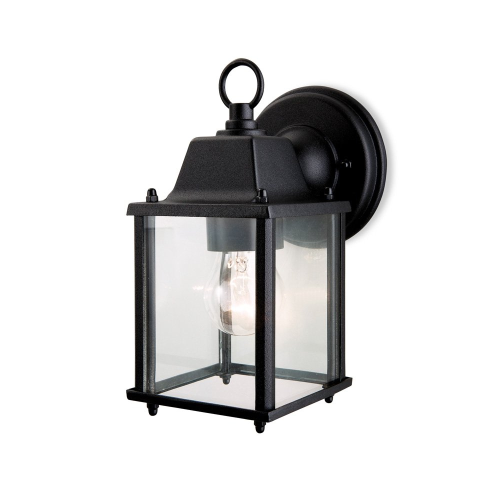 Trendy Nayen Black Wall Lanterns In Firstlight 8666bk Coach 1 Light Black Outdoor Wall Lantern (View 18 of 20)