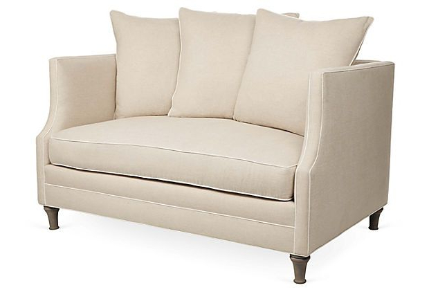 """Trendy One Kings Lane – The Relaxed Resort – Thompson 56"""" Sofa Within Harmon Roll Arm Sectional Sofas (View 12 of 20)"""
