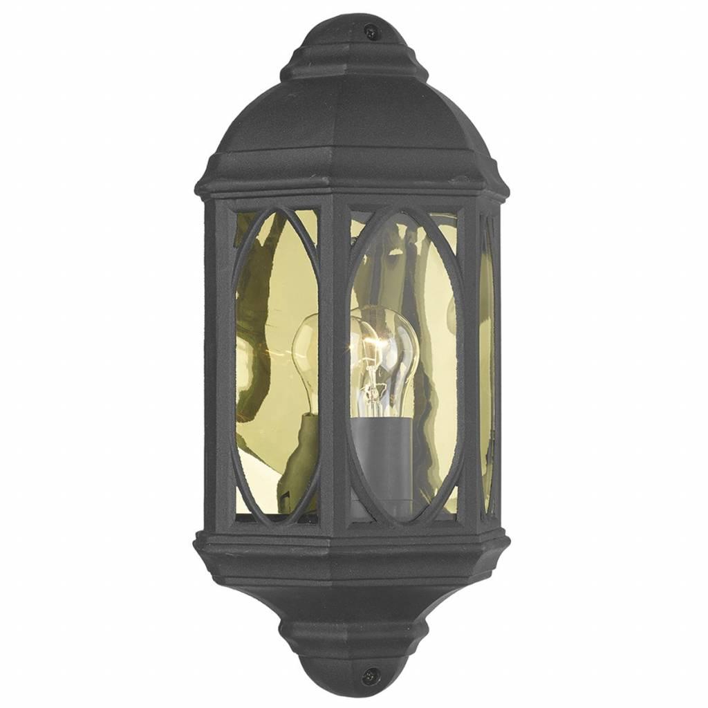 Trendy Outdoor Half Wall Lantern – Black – Lightbox With Heitman Black Wall Lanterns (View 17 of 20)