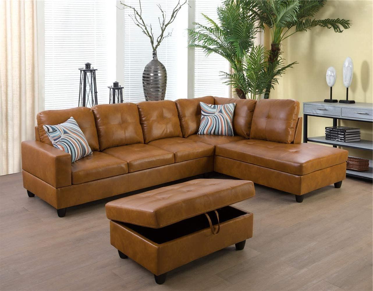 Trendy Ponliving Furniture Caramel  (View 2 of 20)