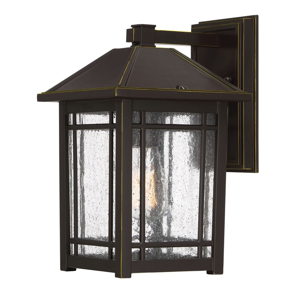 Trendy Robertson 2 – Bulb Seeded Glass Outdoor Wall Lanterns For Seeded Glass Outdoor Wall Light Bronze Quoizel Lighting (View 7 of 20)