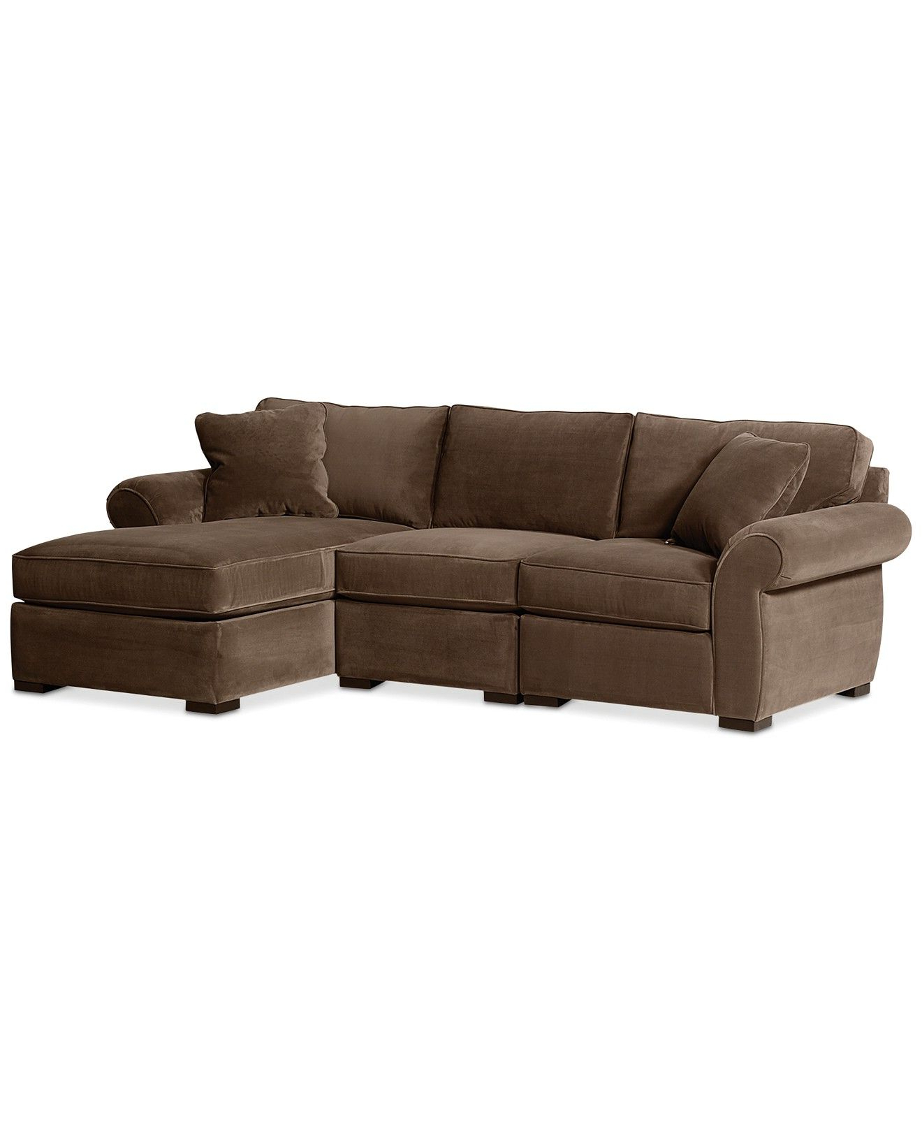 Trevor Sofas With Regard To Newest Trevor Fabric 3 Piece Chaise Sectional Sofa – Sectional (View 18 of 20)