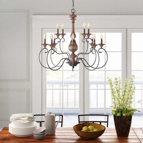 Turcot Wall Lanterns Pertaining To Fashionable Turcot 12 Light Candle Style Chandelier & Reviews (View 18 of 20)