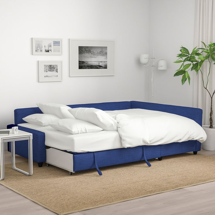 Twin Nancy Sectional Sofa Beds With Storage Throughout Popular Friheten Sleeper Sectional,3 Seat W/storage, Skiftebo Blue (View 20 of 20)