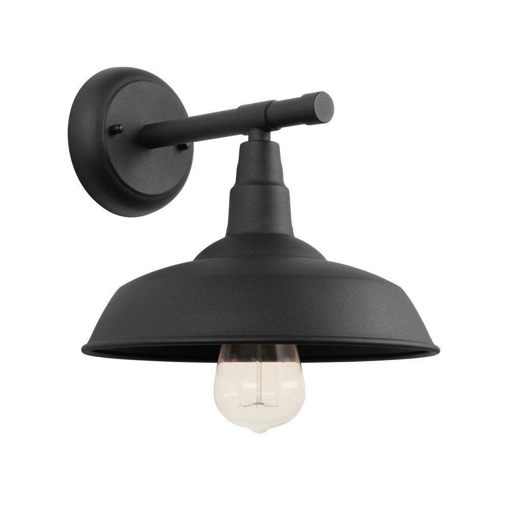 Unbranded 1 Light Black Outdoor Barn Light Sconce El0561bl With Favorite Rickey Black Outdoor Barn Lights (View 19 of 20)