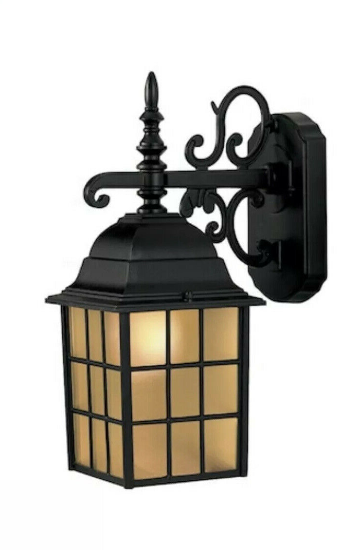 Upc 848507000082 – Portfolio Outdoor Wall Lantern Metal Pertaining To Most Recently Released Vendramin Black Glass Outdoor Wall Lanterns (View 8 of 20)