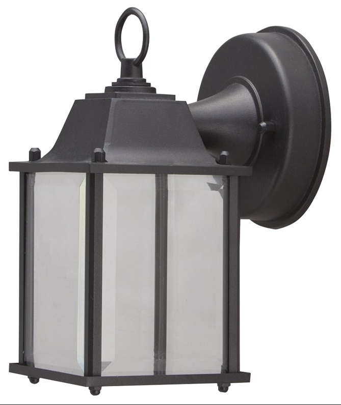 Vendramin Black Glass Outdoor Wall Lanterns In Most Recent Boston Harbor Led Outdoor Wall Lantern, Clear Beveled (View 16 of 20)