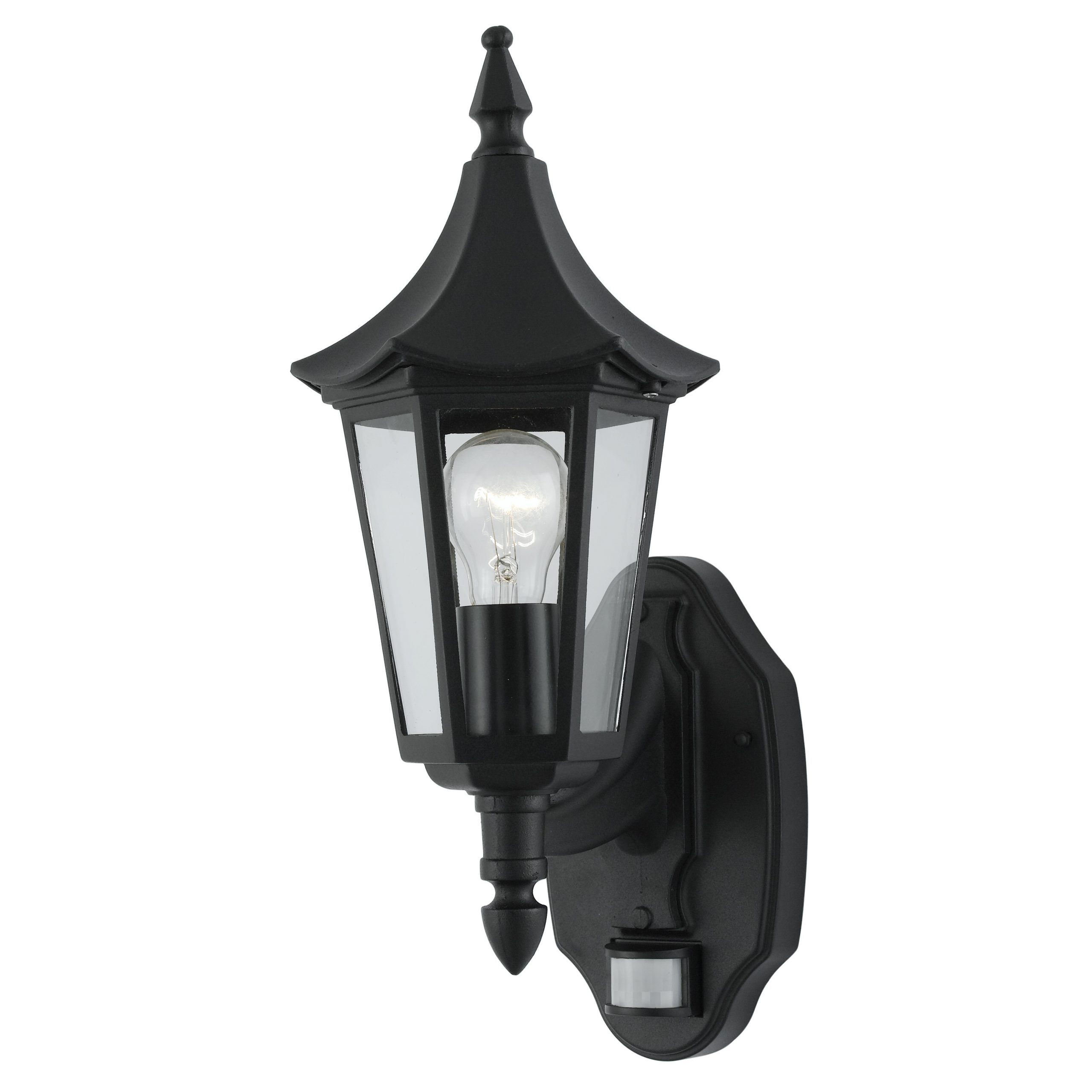 Featured Photo of Vendramin Black Glass Outdoor Wall Lanterns