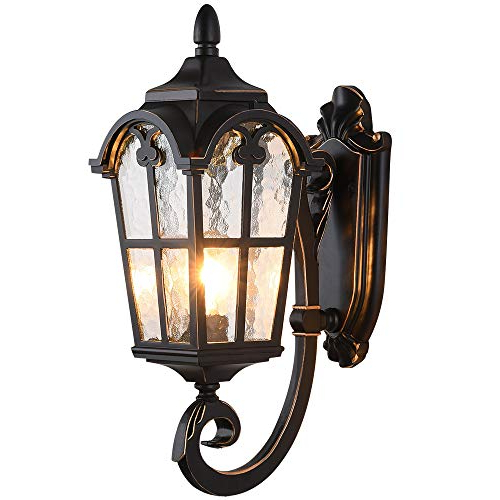Vendramin Black Glass Outdoor Wall Lanterns Throughout Well Known Lonedruid Outdoor Wall Light Fixtures Black Roman  (View 17 of 20)