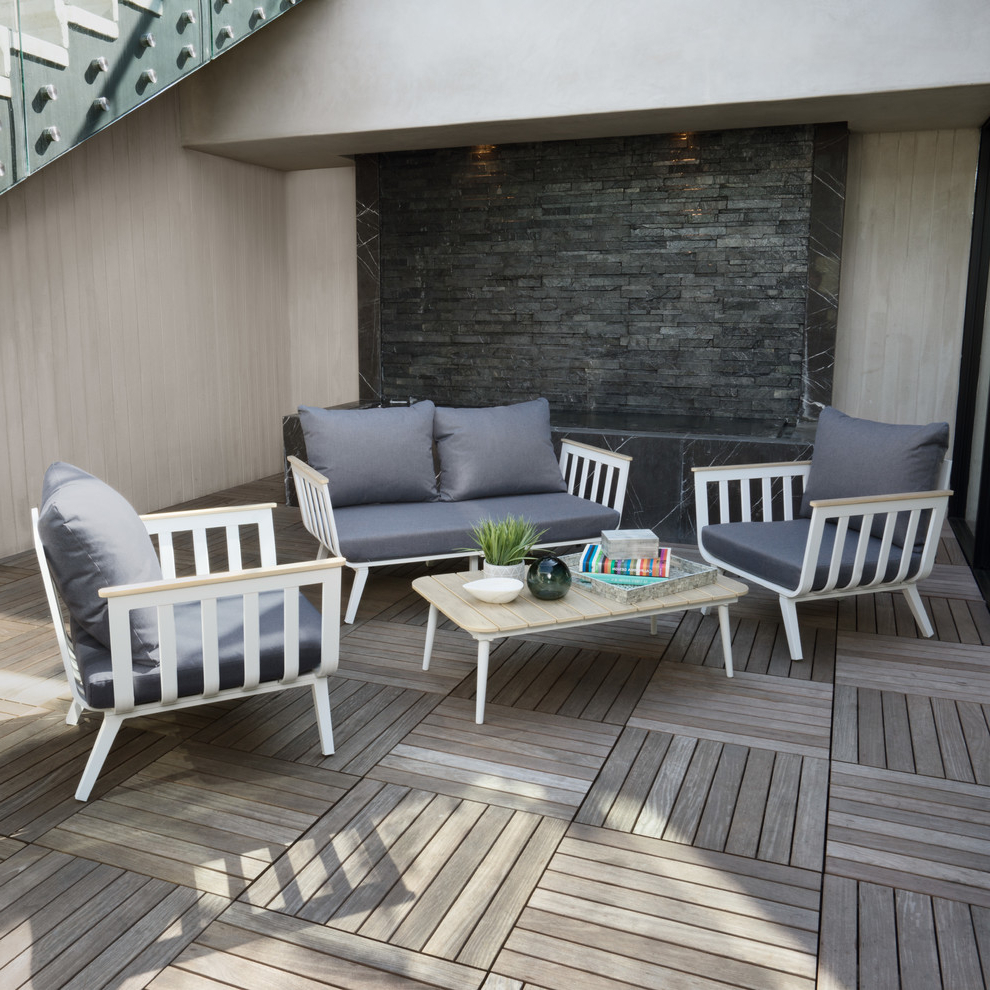 Vera™ 4pc Indoor/outdoor Seating Group In Charcoal Grey For Recent Vera Outdoor Wall Lanterns (View 6 of 20)