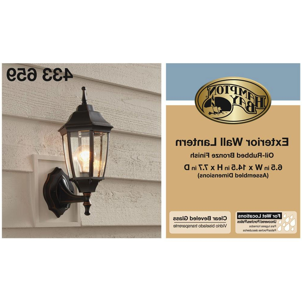Verne Oil Rubbed Bronze Beveled Glass Outdoor Wall Lanterns In 2019 Hampton Bay 1 Light Oil Rubbed Bronze Outdoor Dusk To Dawn (View 19 of 20)