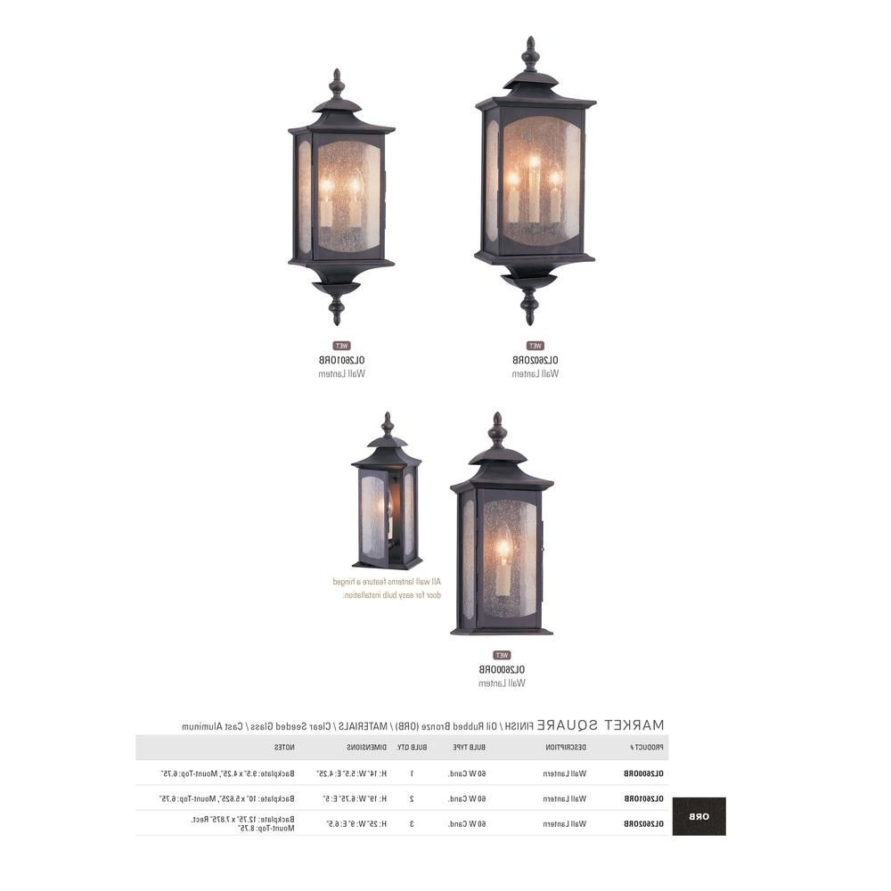 Verne Oil Rubbed Bronze Beveled Glass Outdoor Wall Lanterns With Regard To Famous Feiss Market Square Oil Rubbed Bronze Outdoor Wall Lantern (View 12 of 20)
