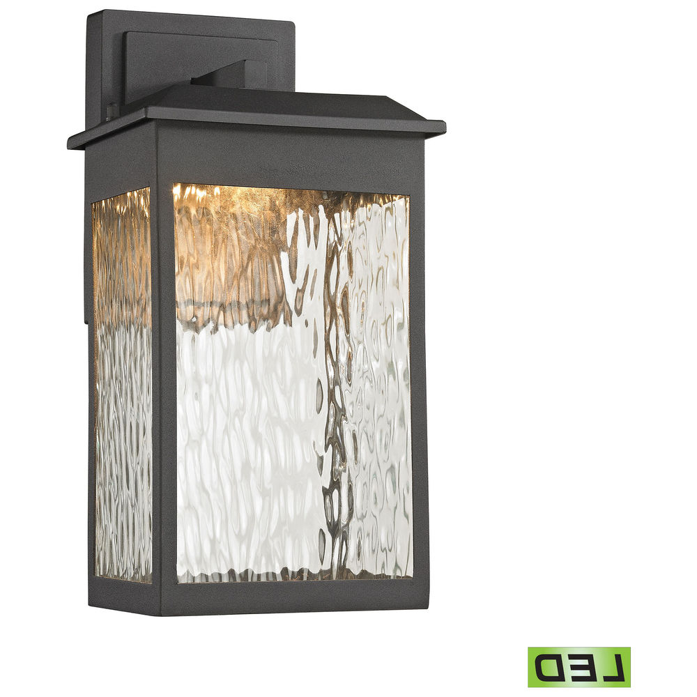 Vernie Black Integrated Led Outdoor Bulkhead Lights For Most Recent 45200/led Elk Lighting Newcastle 1 Light Outdoor Wall Lamp (View 16 of 20)