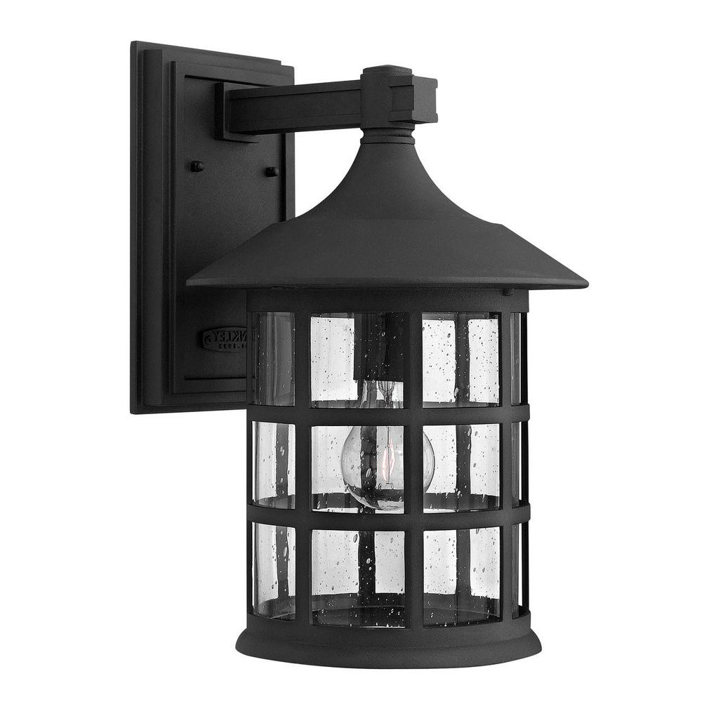 Vernie Black Integrated Led Outdoor Bulkhead Lights For Most Recently Released Hinkley Freeport 1 Light Black Integrated Led Outdoor Wall (View 13 of 20)