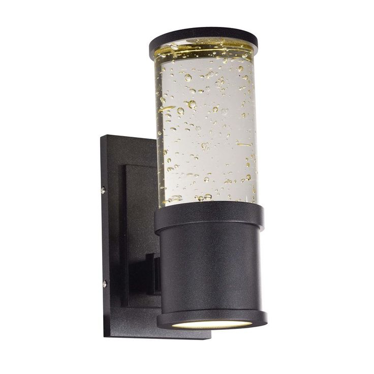Vernie Black Integrated Led Outdoor Bulkhead Lights Intended For 2018 Maxim Lighting Pillar 2 Light Galaxy Black Integrated Led (View 10 of 20)