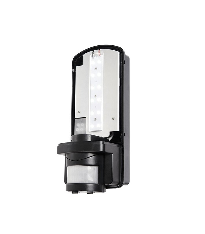 Vernie Black Integrated Led Outdoor Bulkhead Lights Within Popular Integrated Led Pir 1 Light Outdoor Wall Light Frosted (View 9 of 20)