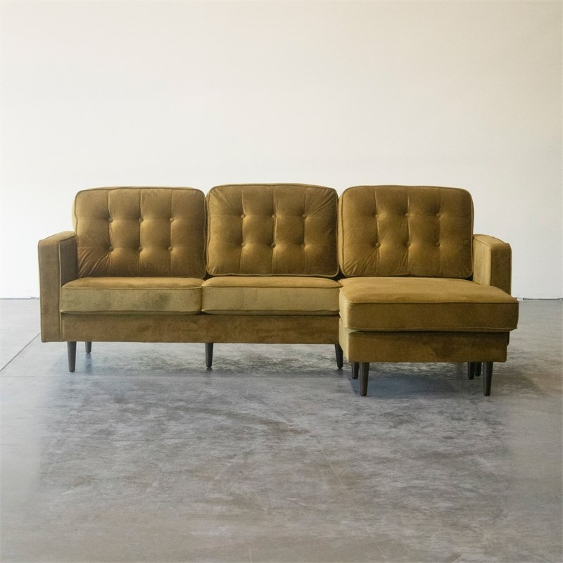 Verona Mid Century Reversible Sectional Sofas In Current Mid Century Modern Kayle Dark Yellow Reversible Sectional (View 10 of 20)