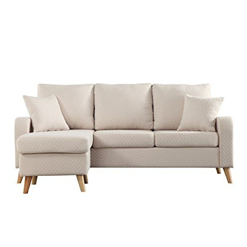 Verona Mid Century Reversible Sectional Sofas Inside Trendy Madison Home Mid Century Modern Small Space Sectional Sofa (View 5 of 20)