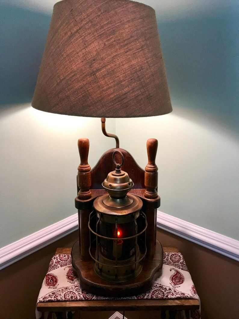Vintage Milford Guild Nautical Lamp Mg Lantern Lamp With With Regard To Most Current Marina Way Bronze 2 – Bulb Outdoor Barn Lights (View 2 of 20)