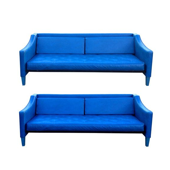 Vintage Mod Sofa Bright Blue Mid Century Modern Panton With Regard To Well Liked Dove Mid Century Sectional Sofas Dark Blue (View 10 of 20)