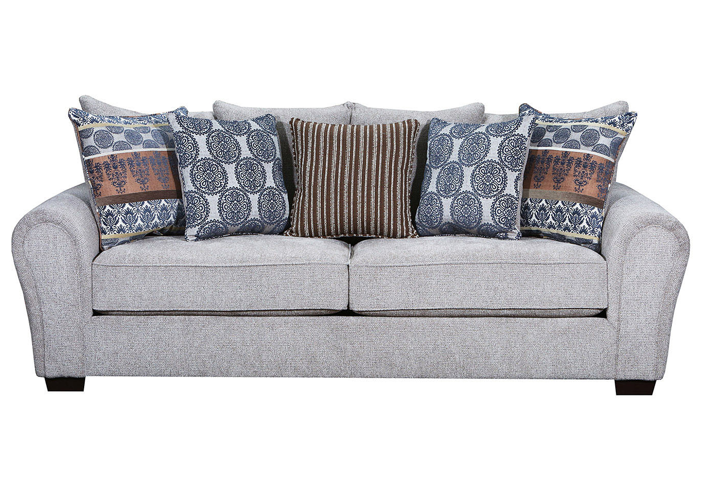Walker Gray Power Reclining Sofas In Famous 9182 Easley Sofa – Outback Taupe / Mediterranean Cocoa (View 20 of 20)