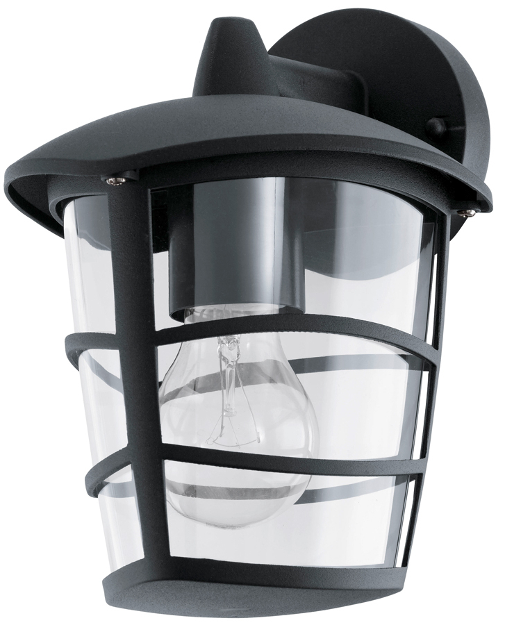 Walland Black Outdoor Wall Lanterns Inside Most Up To Date Modern Black Downward Lantern Outdoor Wall Lantern  (View 13 of 20)