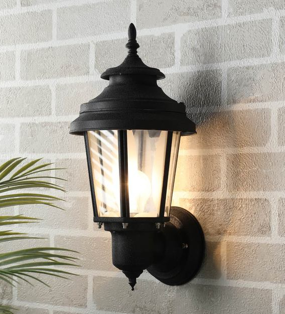 Walland Black Outdoor Wall Lanterns Throughout Recent Buy Exterior Black Metal Outdoor Wall Lightsuperscape (View 7 of 20)