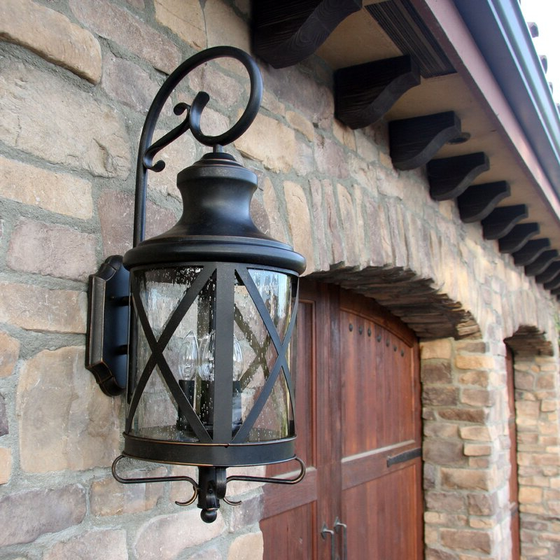 Wayfair Throughout Clarence Black Outdoor Wall Lanterns (View 8 of 20)