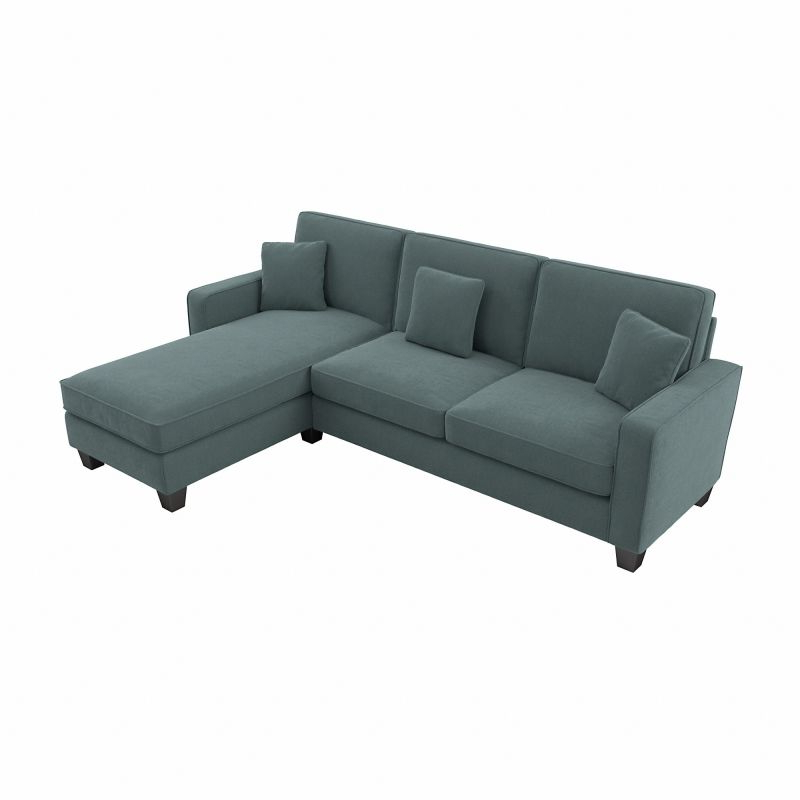 """Well Known 130"""" Stockton Sectional Couches With Double Chaise Lounge Herringbone Fabric Inside Bush Furniture Stockton 130w Sectional Couch With Double (View 10 of 20)"""