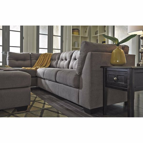 Well Known 2pc Burland Contemporary Sectional Sofas Charcoal Throughout Maier Charcoal 2 Piece Sectional With Laf Chaise  (View 10 of 20)