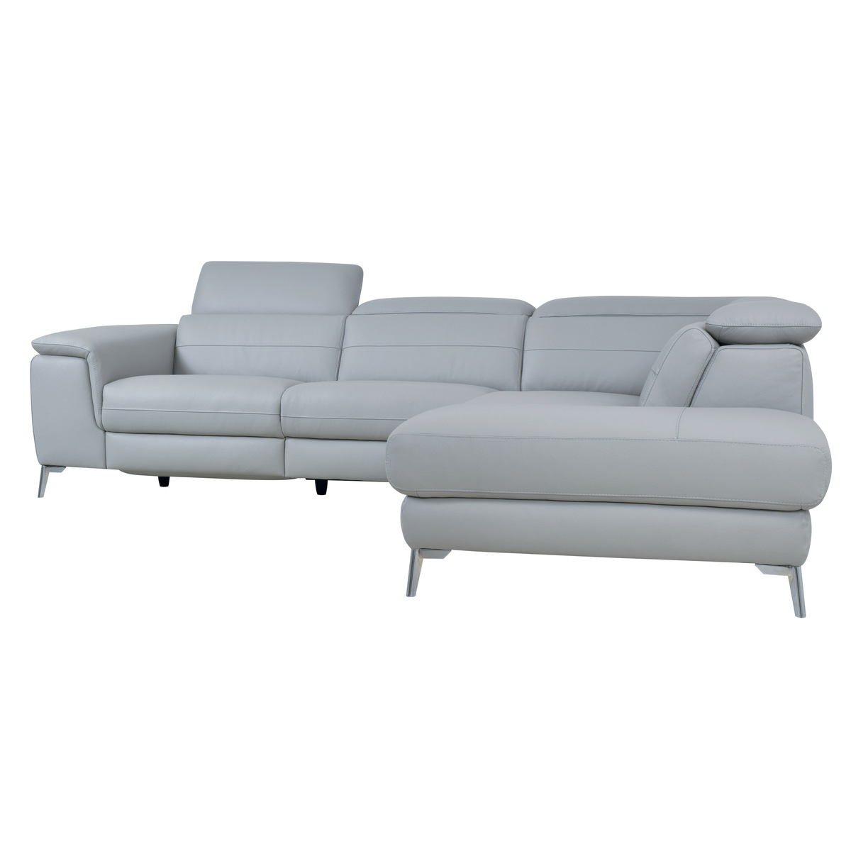 Well Known 2pc Crowningshield Contemporary Chaise Sofas Light Gray Pertaining To 8256gylss 2 Piece Sectional With Left Chaise, Light Grey (View 10 of 20)