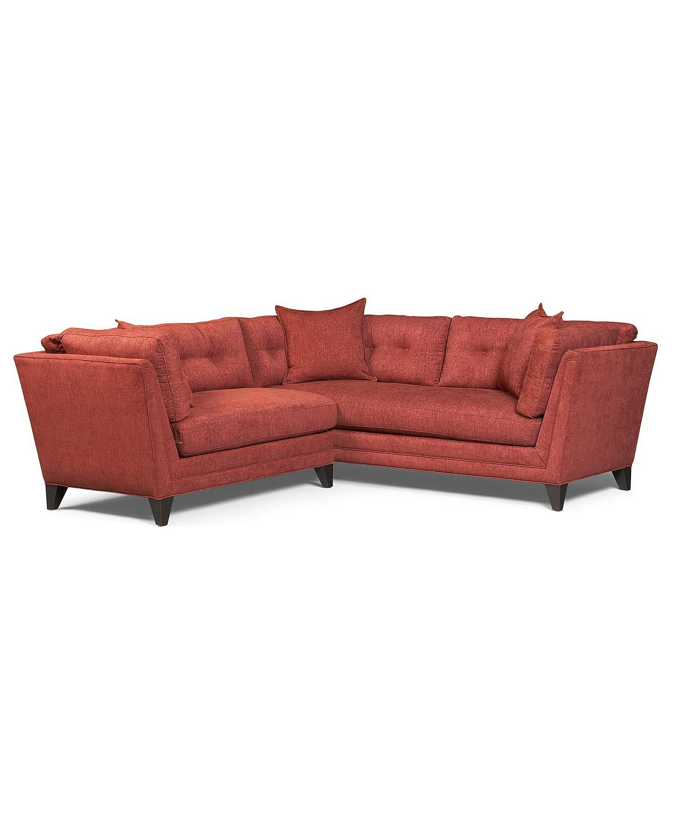 Well Known 2pc Maddox Left Arm Facing Sectional Sofas With Chaise Brown For Irene Fabric Sectional Sofa, 2 Piece (1 Arm Sofa And 1 Arm (View 16 of 20)
