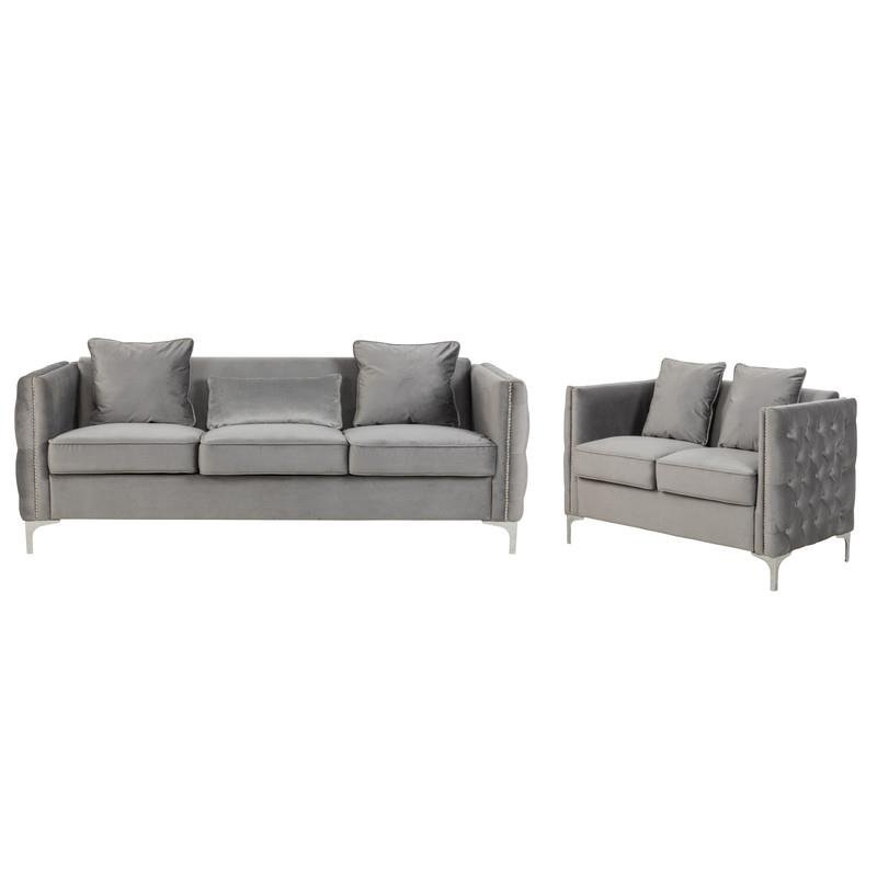 Well Known 2pc Maddox Left Arm Facing Sectional Sofas With Cuddler Brown Throughout Living Room Sets: Sofa Sets With Couch And Loveseat (View 2 of 19)