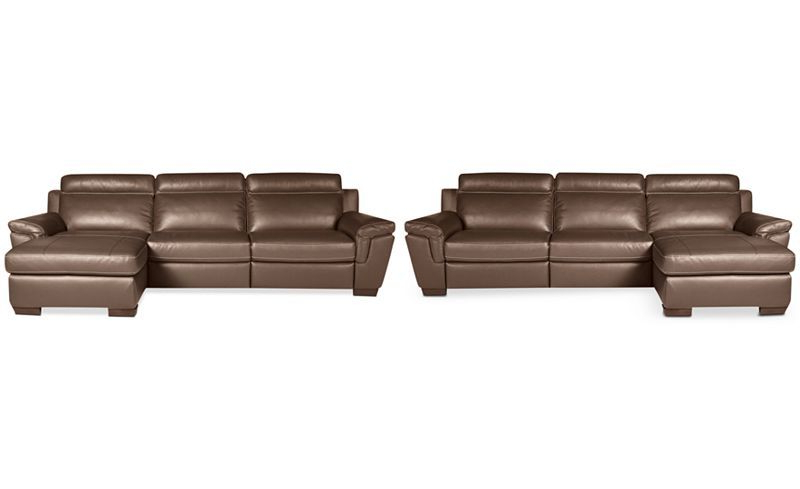 Well Known 3pc Miles Leather Sectional Sofas With Chaise With Regard To Closeout! Julius 3 Pc Leather Sectional Sofa With Chaise (View 12 of 20)