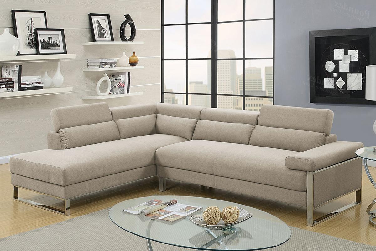 Well Known Beige Sofas Regarding Beige Fabric Sectional Sofa – Steal A Sofa Furniture (View 19 of 20)