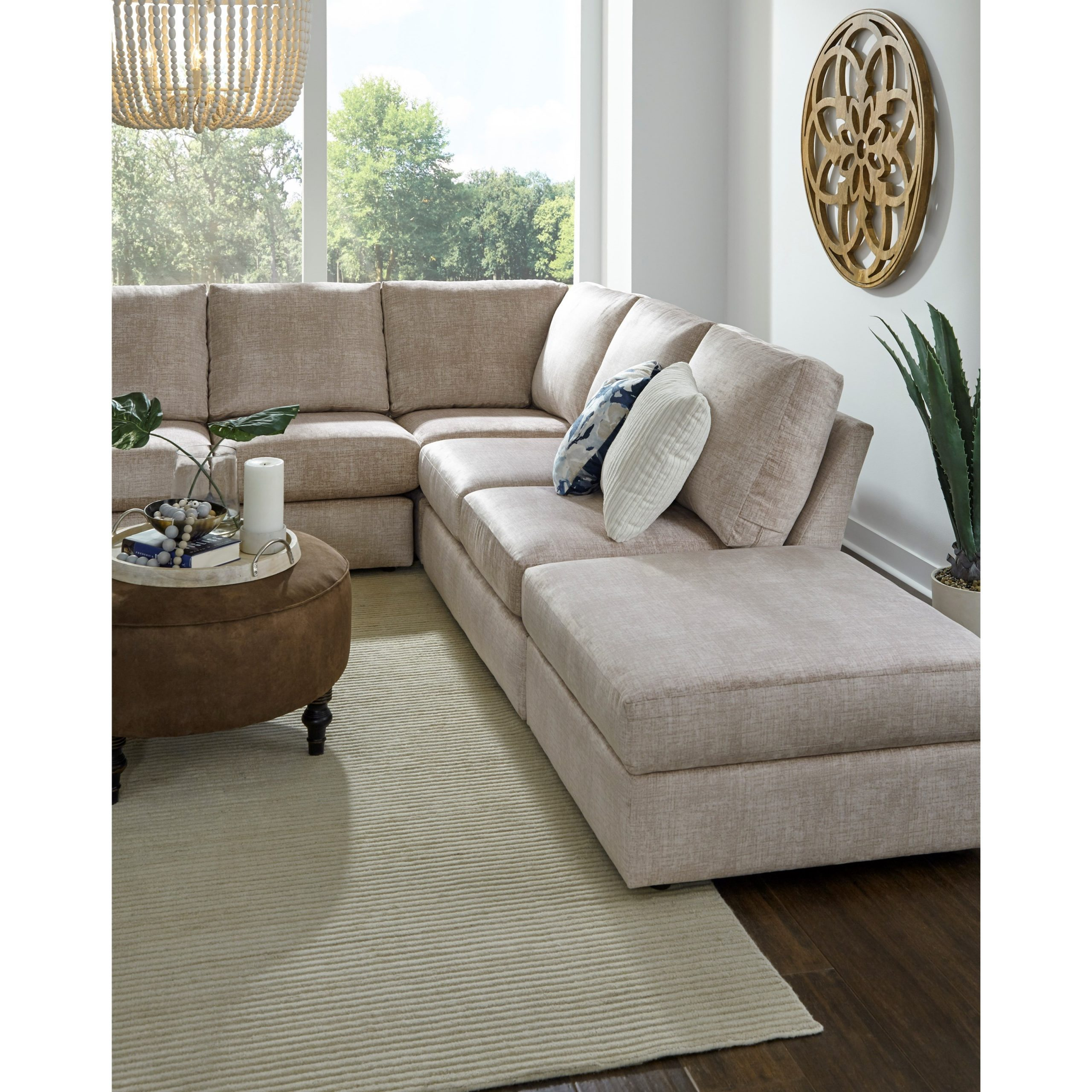Well Known Best Home Furnishings Dovely Five Seat Sectional Sofa With Pertaining To Copenhagen Reversible Small Space Sectional Sofas With Storage (View 1 of 20)