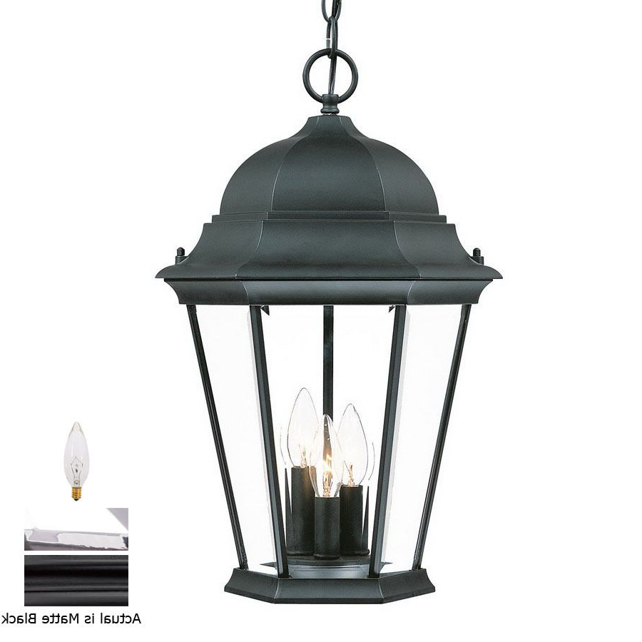 Well Known Black 13.4'' H Hammered Glass Outdoor Wall Lanterns Inside Shop Acclaim Lighting Richmond  (View 6 of 20)