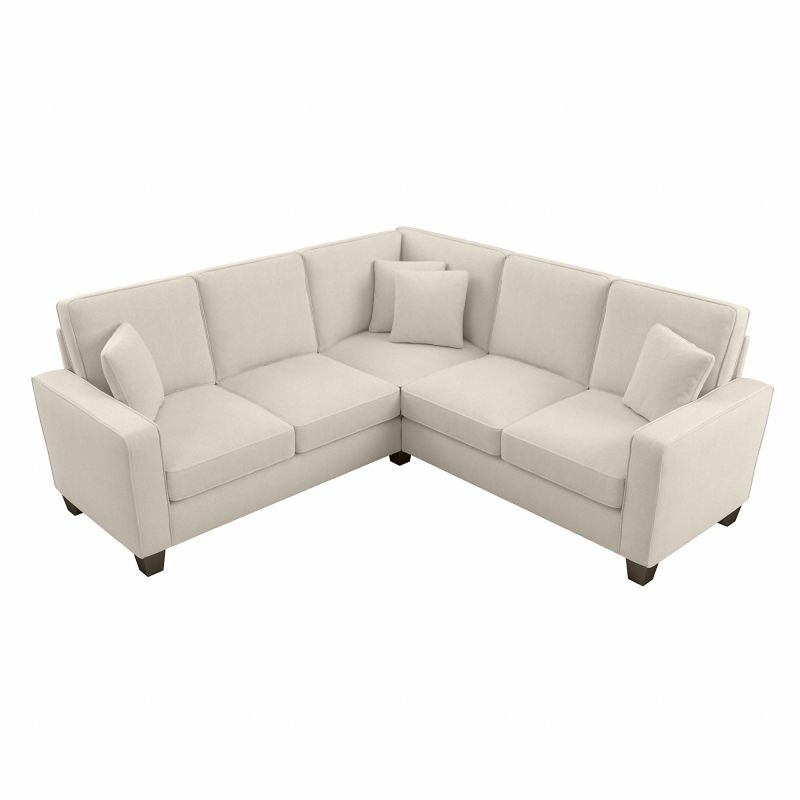 """Well Known Bush Furniture Stockton 98w L Shaped Sectional Couch In Inside 130"""" Stockton Sectional Couches With Double Chaise Lounge Herringbone Fabric (View 8 of 20)"""