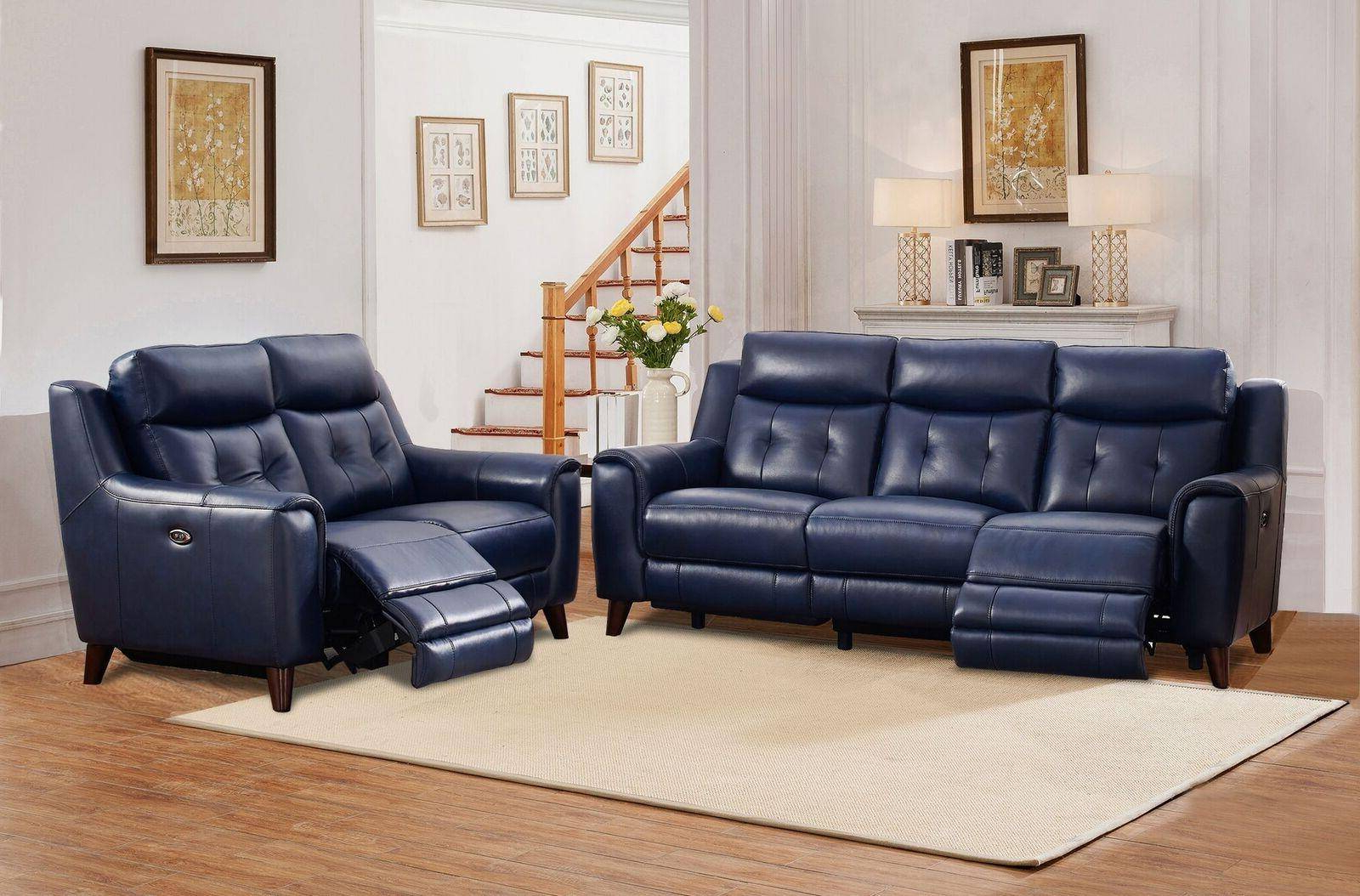 Well Known Buy Amax Hydeline Hastings Reclining Sofa Set 3 Pcs In With Bloutop Upholstered Sectional Sofas (View 11 of 20)
