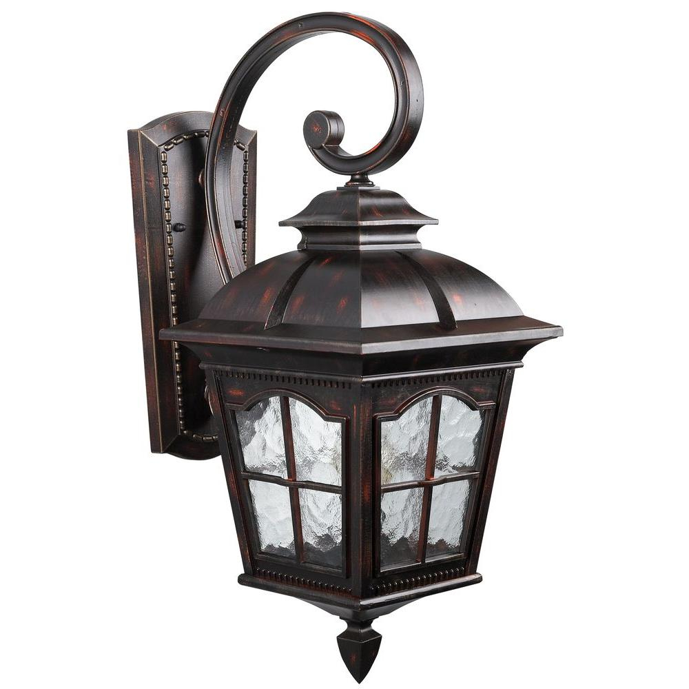 Well Known Carrington Beveled Glass Outdoor Wall Lanterns With Regard To Canarm Madison 1 Light Rustic Bronze Outdoor Wall Lantern (View 4 of 20)