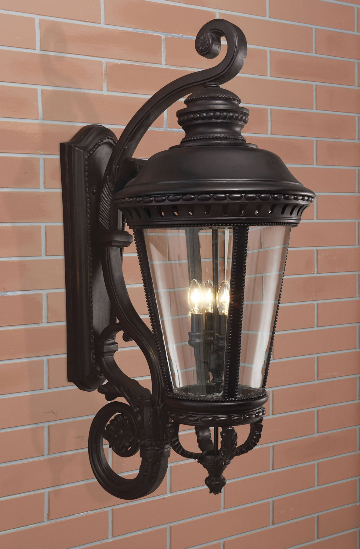 Well Known Castellanos Black Outdoor Wall Lanterns Throughout Feiss Ol1905bk Castle Outdoor Wall Lantern (View 7 of 20)