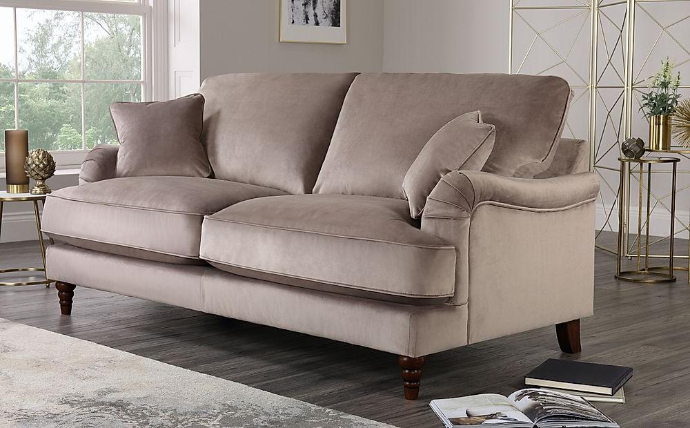 Well Known Charleston Sofas Within Charleston Mink Velvet 3 Seater Sofa (View 1 of 20)