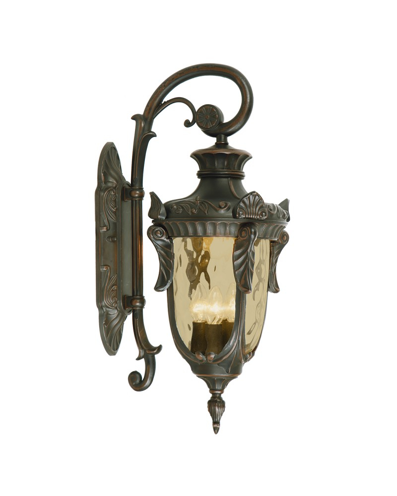 Well Known Cowhill Dark Bronze Wall Lanterns For Elstead Lighting Philadelphia 3 Light Outdoor Large Down (View 4 of 20)