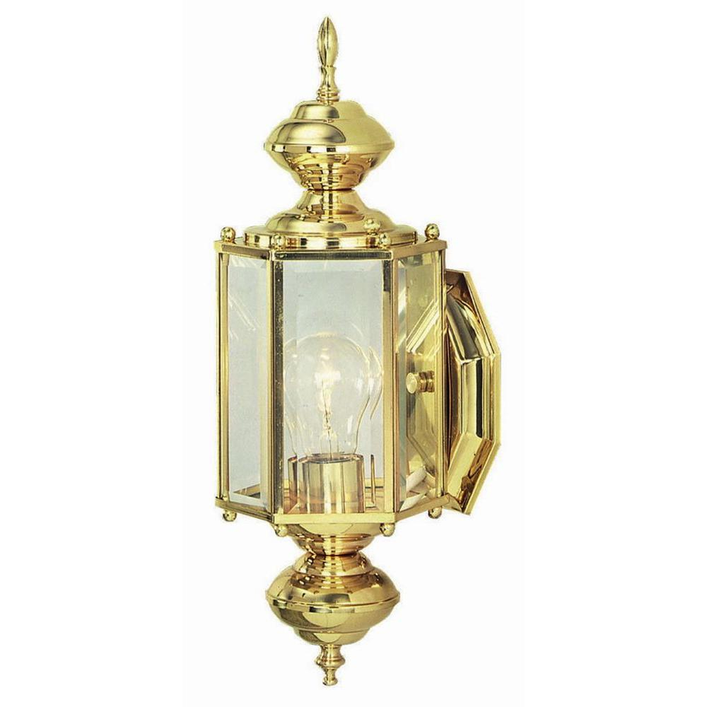 Well Known Design House Augusta Solid Brass Outdoor Wall Lantern Throughout Carner Outdoor Wall Lanterns (View 20 of 20)