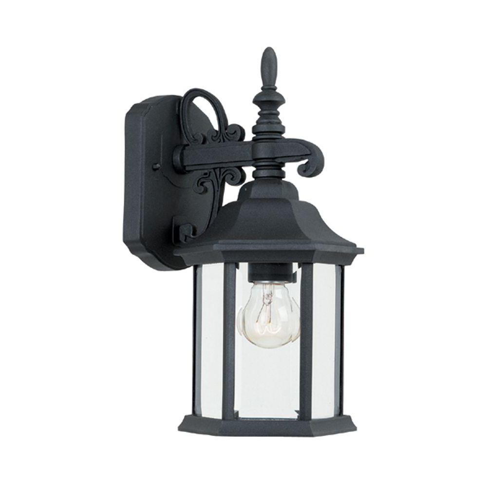Well Known Designers Fountain Erving Collection Black Outdoor Wall For Borde Black Outdoor Wall Lanterns (View 2 of 20)