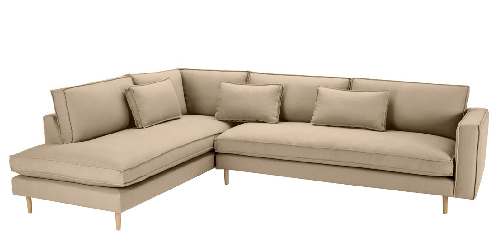 Well Known Dream Navy 3 Piece Modular Sofas Intended For Modular Lhs Three Seater Sofa With Lounger In Beige Colour (View 18 of 20)