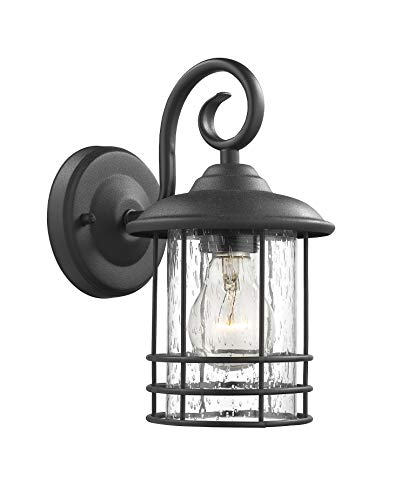 Well Known Emliviar 1 Light Outdoor Wall Lantern 2 Pack, Exterior For Rockefeller Black 2 – Bulb  Outdoor Wall Lanterns (View 11 of 20)